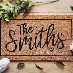 Housewarming Gift / Family Name Doormat / Personalized Doormat / Closing Gift / Custom Family Wel... | Etsy (US)