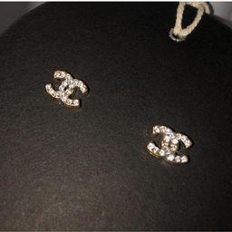 Gold elegant stud earrings   Etsy (US)