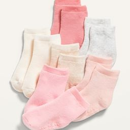 Solid Crew Socks 6-Pack for Baby | Old Navy (US)