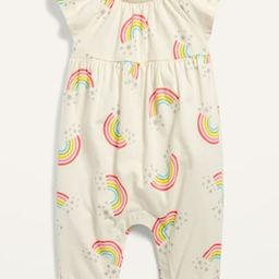 Flutter-Sleeve Jersey Jumpsuit for Baby | Old Navy (US)