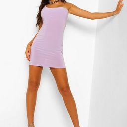 One Shoulder Strappy Back Mini Dress   Boohoo.com (US & CA)