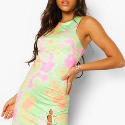Tie Dye Diamante Trim Split Dress   Boohoo.com (US & CA)