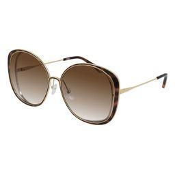 63mm Gradient Oversize Round Sunglasses | Nordstrom