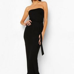 Bandeau Belted Maxi Dress | Boohoo.com (US & CA)