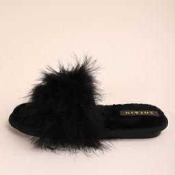 Plush Fluffy Slippers   SHEIN