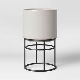 Medium Ceramic Planter on Stand Cream - Project 62™ | Target