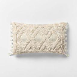 Lumbar Woven Textured Diamond Throw Pillow - Opalhouse™   Target