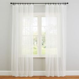 Classic Voile Rod Pocket Sheer Curtain | Pottery Barn (US)