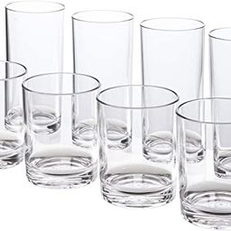 Classic 8-piece Premium Quality Plastic Tumblers   4 each: 12-ounce and 16-ounce Clear   Amazon (US)