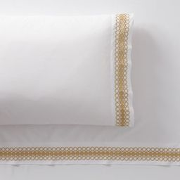 Lilly Pulitzer Organic Embroidered Trim Sheet Set | Pottery Barn Teen