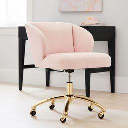 Velvet Wingback Swivel Desk Chair | Pottery Barn Teen
