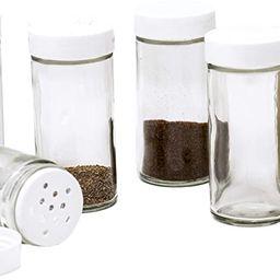 Glass Spice Jars- Set of Six Glass Spice Bottles   Amazon (US)