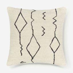 Moroccan Flatweave Pillow, Black & Natural By Sarah Sherman Samuel   Lulu and Georgia