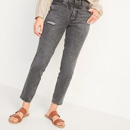 High-Waisted O.G. Straight Ripped Black Ankle Jeans for Women   Old Navy (CA)