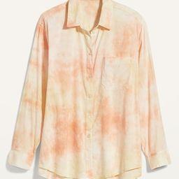 Oversized Tie-Dye Boyfriend Shirt for Women | Old Navy (US)