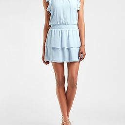 Smocked Waist Flutter Sleeve Dress | Express