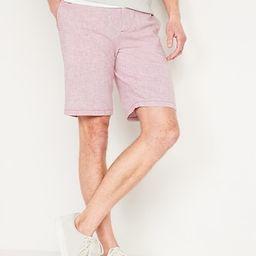 Slim Ultimate Micro-Stripe Linen-Blend Shorts for Men -- 10-inch inseam | Old Navy (US)