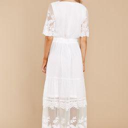 Blissfully Nostalgic White Maxi Dress | Red Dress