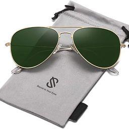 Classic Aviator Polarized Sunglasses for Men Women Vintage Retro Style SJ1054 | Amazon (US)