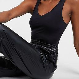 Body Contour Double Layer V-Neck Thong Bodysuit | Express
