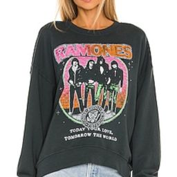 DAYDREAMER Ramones Today Your Love Sweatshirt in Vintage Black from Revolve.com   Revolve Clothing (Global)