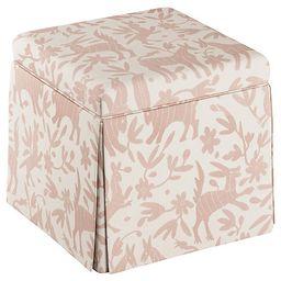 Anne Skirted Storage Ottoman, Pink Otomi | One Kings Lane