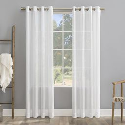 Giacomina Linen Solid Color Sheer Grommet Single Curtain Panel | Wayfair North America