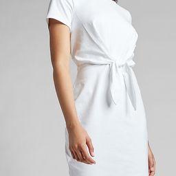 Tie Front T-Shirt Dress   Express