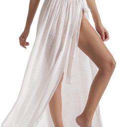 Beach Sarong Pareo Womens Semi-Sheer Swimwear Cover Ups Short Skirt with Tassels   Amazon (US)