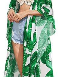 Women's Flowy Kimono Cardigan Open Front Maxi Dress   Amazon (US)