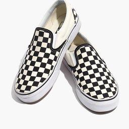 Vans® Unisex Classic Slip-On Sneakers in Black Checkerboard   Madewell
