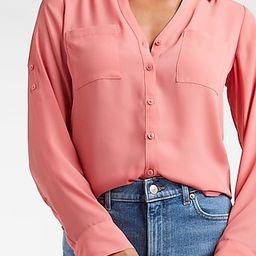 Slim Fit Solid Portofino Shirt | Express