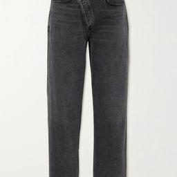 Gray Criss Cross Upsized high-rise tapered jeans | AGOLDE | NET-A-PORTER | Net-a-Porter (UK & EU)