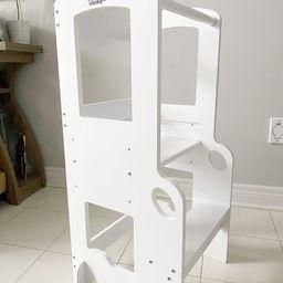100% Bamboo Height Adjustable Activity Tower/Kitchen Helper/Children's Step Stool | Etsy (CAD)