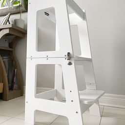 100% Bamboo 2 in 1 Activity Tower/Desk/Kitchen Helper/Children's Step Stool | Etsy (CAD)