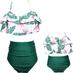 KABETY Girls Swimsuit Two Pieces Bikini Set Ruffle Falbala Swimwear Bathing Suits | Amazon (US)