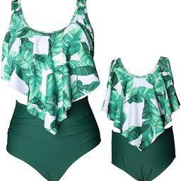 ZAXARRA Women's Swimwear Girls Bathing Suit Mommy and Me Swimsuit Swimwear Bikini Set | Amazon (US)