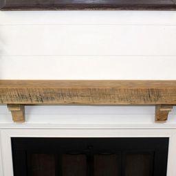 Reclaimed Wood Fireplace Floating Mantel Shelf - 4x8 - Authentic Reclaimed Barn Wood Hand Made Wa... | Etsy (US)