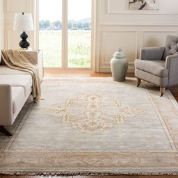 Safavieh Couture Hand-knotted Oushak Richtsje Traditional Oriental Wool Rug with Fringe - 6' x 9'...   Overstock