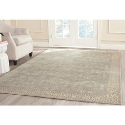 Safavieh Couture Hand-knotted Oushak Oriental Wool Rug - 8' x 10' - Blue/Ivory   Overstock
