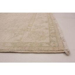 Hand-knotted Peshawar Oushak Ivory Wool Rug   Overstock