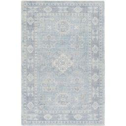 Rakel Oriental Hand-Tufted Wool Denim/Sky Blue Area Rug   Wayfair North America