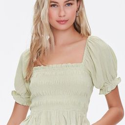 Smocked Puff-Sleeve Top | Forever 21 (US)