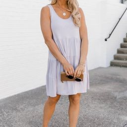 Giving Your All Tiered Lavender Dress   The Pink Lily Boutique