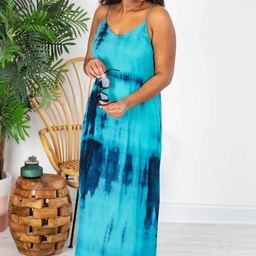 Continuous Love For You Tie Dye Maxi Blue Dress   The Pink Lily Boutique
