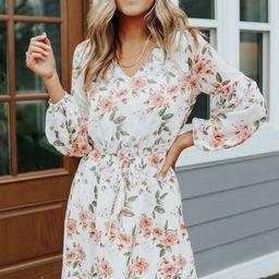 Madalyn V-Neck Long Sleeve Floral Dress | Magnolia Boutique