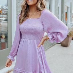 Square Neck Smocked Satin Dress | Magnolia Boutique