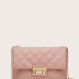 Quilted Flap Chain Bag   SHEIN