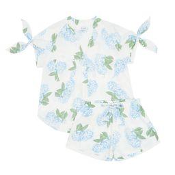 Cintya Pajama Set,  Bridesmaids Gift, Hydrangea Blue - Code TP023 + P005   Etsy (US)