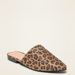 Faux-Suede Mule Flats for Women | Old Navy (US)